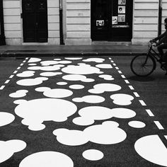 The zebra crossing was commissioned by the Museum of Contemporary Art of Vojvodina in Novi Sad for the road outside its entrance.