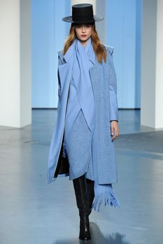 Baby blue continues as a trend color through fall/winter. Tibi Fall 2014 Ready-to-Wear Collection Slideshow on Style.com #nyfw #fashionweek #runway