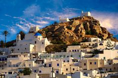 Ios island is one of the islands in the Cyclades group in the Aegean Sea. Ios is a hilly island with many mountains and cliffs down to the . Ios, Athens Greece, Greece Art, Fine Art Photo, Greatest Adventure, Pictures Images, Greece Travel, Greek Islands, Night Life