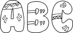 lettres amérindiennes abécédaires  alphabet