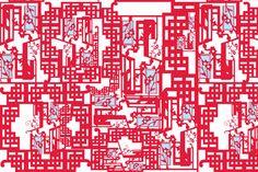 Fretwork Variation 2 fabric by boris_thumbkin on Spoonflower - custom fabric
