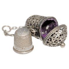 Antique Chatelaine Thimble Case Pendant