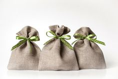 Christmas wedding favors small 10 gift bags  by LinenHomeShop, $11.99