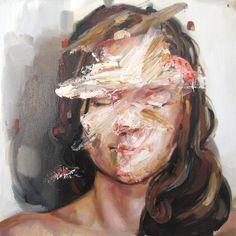 Cesar Biojo Nati 2 - Óleo sobre tela - 40 x 40 cm