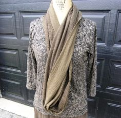 Perfectly casual infinity scarf!  You can wear this scarf loose or wrapped around multiple times to create a sophisticated look. #MadeinUSA www.nortonsusa.com