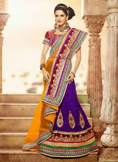 EXOTIC SELLERS!!  Eyeful Yellow And Purple Stone Work Net Designer Lengha Saree  Product Order link http://www.usarees.com/new-arrivals/eyeful-yellow-and-purple-stone-work-net-designer-lengha-saree-3077  ITEM CODE: 3077  Color :Yellow Purple Fabric :Net Work :Patch Border Stone Occasion :Party Wedding  Call or Whatsapp : +919377152141 SHOP NOW!!