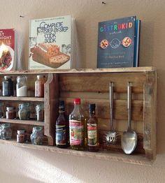 Reclaimed Wood Spice Rack...'
