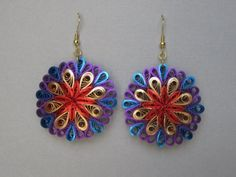 This is a cute quilling earring