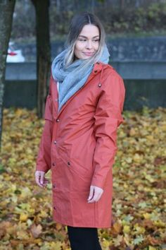 Rains - Long Jacket Rust Long Jackets, Rust, Raincoat, Fashion, Rain Jacket, Moda, La Mode, Fasion