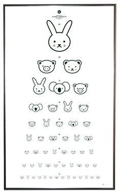 Eye chart nursery art - from Floor 4 Projects