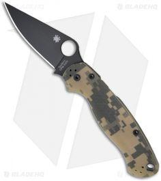 "Spyderco Paramilitary 2 Knife Digi Camouflage G-10 (3.44"" Black) C81GPCMOBK2"