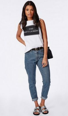 Pin for Later: Les 7 Grandes Tendances Jean de l'Automne  Missguided Jean Mom (35€)