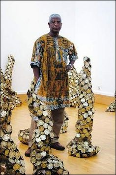 Metal can art and artist El Anatsui