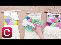 Weaving for Beginners Part 5: Add Internal Fringe and Finish with Annabel Wrigley | Creativebug - YouTube