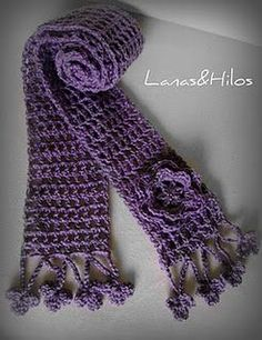 Simple crochet pattern for scarf. Must do this!