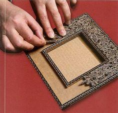 Tutoriel Fabriquer un petit cadre oriental en carton (Créations en carton - cartonnage) - Femme2decoTV: