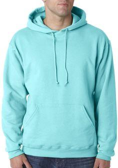 jerzees adult nublend(R) hooded pullover sweatshirt - scuba blue (l)