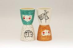 Set of 4 Ceramic Cups