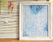 "Rainbow Rain Shower 16""X20"" giclee art print Averyrayne Avery Rayne Etsy"