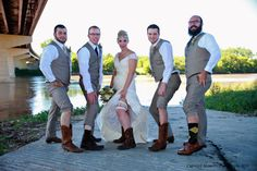 Bride showing her garter and groomsmen showing some leg! Garter, Groomsmen, Wedding Photos, Wedding Photography, In This Moment, Legs, Bride, Marriage Pictures, Wedding Bride