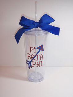 Pi Beta Phi Greek Sorority 20 oz. Tumbler Gift. $20.00, via Etsy.
