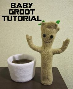 Happily Grim: DIY Baby Groot Plushie Tutorial from Guardians of the Galaxy