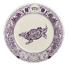 Varsity China vintage-style horned frog plate. I love this! I wish the link worked, I really want one!