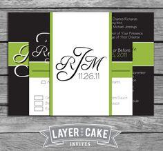 Classic Monogram Wedding Invitation Set by LayerCakeInvites, $4.00