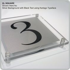 XL Square Acrylic House Signs, Name Plaques & Modern Address Nameplate By De-signage