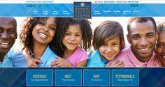 #sesamewebdesign #psds #dental #responsive #full-width #top-menu #sans #blue #yellow #texture #pattern