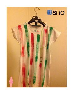 T-shirt Si iO Donna Dipinta a mano