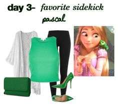"""""""Disney Challenge: Day 3"""" by emcarstairsofla ❤ liked on Polyvore featuring Polo Ralph Lauren, River Island, Fiorangelo, Mundi, disney, disneybound, tangled and pascal"""