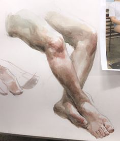 Wonderful Learn To Draw People The Female Body Ideas. Mesmerizing Learn To Draw People The Female Body Ideas. Figure Drawing Models, Human Figure Drawing, Figure Sketching, Life Drawing, Watercolor Sketch, Watercolor Portraits, Watercolor Paintings, Portrait Sketches, Art Sketches