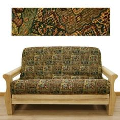 Bombay Futon Cover Twin 618 by SlipcoverShop. $55.00. See Sizing and Product Description below. In Stock - Ships within 2 days. Made in USA.. Made to fit Twin size futon mattress measuring 39 inches wide, 75 inches long and up to 8 inches thick. Futon cover features 3 sided, concealed zipper construction. Made in USA. Bombay fabric offers mesmerizing Asian tapestry in wonderful color scheme. Depicting elephants, temples, etc. This great cover lets you escape to f...