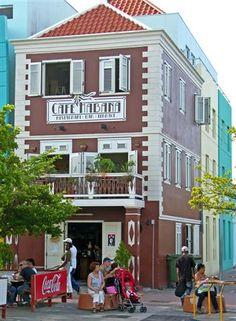 Cafe in Otrobanda, Willemstad, Curacao