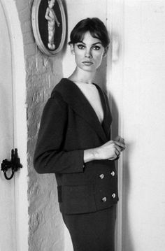 Jean Shrimpton in 1965 in a sophisticated photo shoot