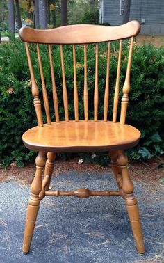Awesome Colonial Side Chair Excellent Condition Solid Maple S. Bent U0026 Bros. Made In  USA