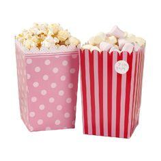Pink - Popcorn Tüten pink bei www.party-princess.de