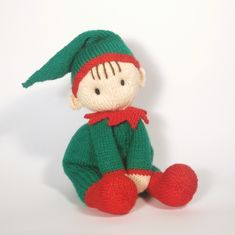 On Christmas Eve, when children are too excited to sleep- that's when Jo-Jo Elf appears, His sweet face and cuddly body make him the ideal sleepy-time friend to calm and sooth little ones into dreamland!  Jo-Jo's large Elf ears help him to hear children excited voices, so he knows which houses to visit.