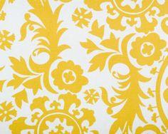 """Suzani Corn Yellow/Slub.  Anatol's Bold Prints - Suzani Corn Yellow/Slub - 100% 7 ounce Cotton Slub - 51 1/2""""Horizontal by 24 3/8"""" Vertical - 54"""" Wide."""