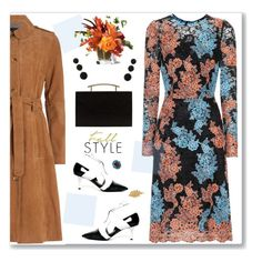 """Untitled #1517"" by nantucketteabook ❤ liked on Polyvore featuring Dolce&Gabbana, French Connection, MANGO, Cara, Fall, dress and florals"