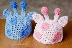Giraffe Newborn Hats