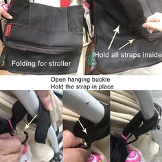 Universal Buggy Stroller Pushchair Clips with Anti-Skid Straps Fit for Stroller Bags Groceries Shopping Bags HULISEN 4 Pack Buggy Clips 4 Pack