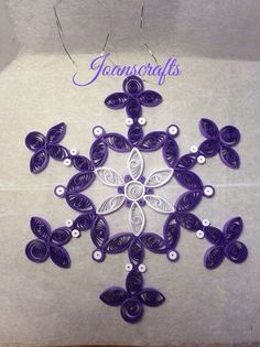 Quilled Snowflake made from Anchor design