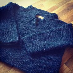 Handmade, knitted polo shirt. Boys design.