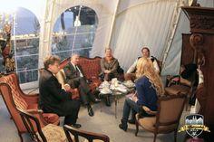 Gesprächsrunde in Helmut Sacher's Kaffeehaus #Alpenzauber #Köln #MediaPark