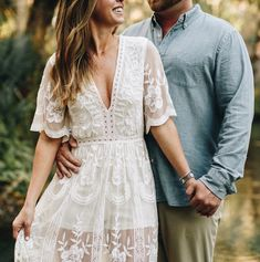 maxi lace romper in white available at Nordstrom. White Engagement Dresses, Dresses For Engagement Pictures, Engagement Photo Dress, Engagement Outfits, Engagement Photos, Engagement Session, White Dress Fall, White Lace Kimono, Lace Maxi Romper
