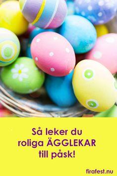 Att leka ägglekar är en gammal påsktradition! Så här gör du!  #påsklekar #ägglekar #ägglek #äggjakt #påsk #festlekar