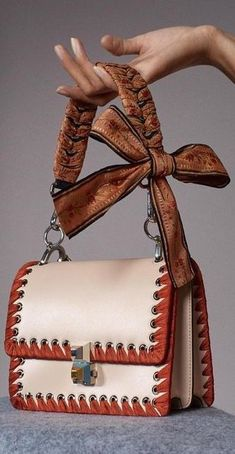 "Fendi: ""Everything's better with a bow. & get tied up with ultra-girly ribbon accents. Put together your dream bag & strap…"" : Fendi Fashion Handbags, Purses And Handbags, Fashion Bags, Bucket Bag, Mode Vintage, Mode Outfits, Beautiful Bags, My Bags, Bag Accessories"