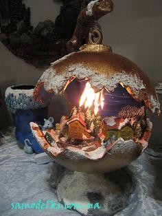 """Christmas Decor Ideas And Nostalgia - Pa - نازù""""Ûœ رۜø³ù‡ Ù¾ø±Ø±Ù† - Marecipe Cozy Christmas, All Things Christmas, Christmas Time, Christmas Bulbs, Handmade Christmas Decorations, Xmas Decorations, Holiday Crafts, Holiday Decor, Diy Décoration"""